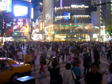 Crossing the street in Tokio