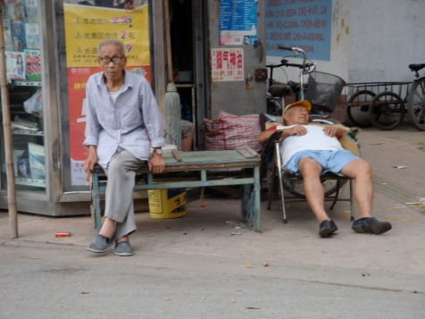 Enjoying afternoon nap Nanjing China
